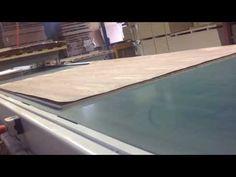 Monarch Custom Plywood Inc. - Double Press Custom Hardwood Plywood Transfer Table. - YouTube Video/ Monarchply.com  Call Monarch Custom Plywood Inc. T.905.669.6800.