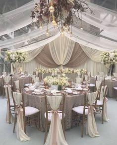 @modernweddingmagazine ✨ #glam #metallics #elegant #weddingreception #weddingdetails