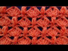 Punto tejido a .crochet 5 combinacion de abanicos con puntos garbanzos TEJIDOS MILAGROS ENA   - 18:04:47