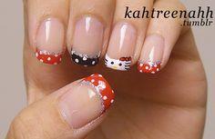 I like the polka dots/french tip idea