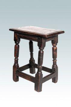 17th century oak stool