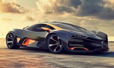 Futuristic Car, Luxury, Future Car, Rich, Futuristic Vehicle, Supercar, Wealth, Sportscar, Sky, Automobile, Clouds, Power, aggressive by FuturisticNews.com
