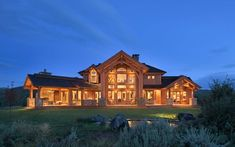 Afton, Wyoming Timber Frame Home Photo Gallery