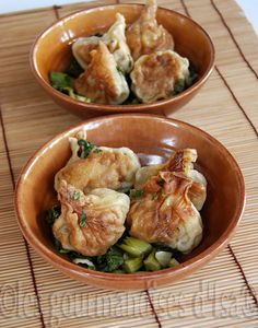 The delicacies of Isa RAVIOLI PORK AND DUCK, BOK CHOY AND ICE MEAT