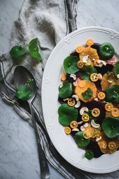 This Citrus, Beet and Miner's Lettuce Salad Recipe will nourish you during the transitions between the winter and spring season, and it's a wonderful way to highlight this foraged wild green. Sometimes known as winter purslane, this rich succulent green makes the perfect base for a fresh spring salad recipe.