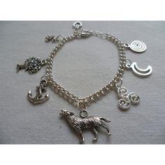 Wolf bracelet,fandom.tree,nemeton,moon,anchor,triskele,Scott,wolf... ($13) ❤ liked on Polyvore featuring jewelry, bracelets, heart charm bracelet, anchor bracelet, anchor charm bracelet, silver heart bracelet and heart charms