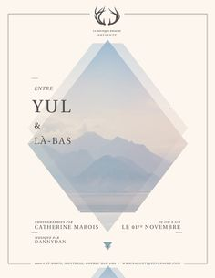 Entre YUL & Là-bas by Catherine Marois, via Behance type and graphic… Graphic Design Layouts, Graphic Design Posters, Graphic Design Typography, Graphic Design Illustration, Graphic Design Inspiration, Layout Design, Branding Design, Design Design, Simple Poster Design