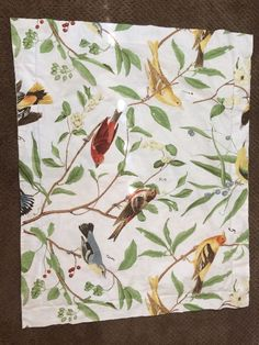 1 Pottery Barn Spring Sparrow Bird Standard Pillow Sham Cotton #PotteryBarn… Pillow Shams, Pillows, Sparrow Bird, Pottery Barn Kids, Bedding Collections, Birds, Spring, Cotton, Painting