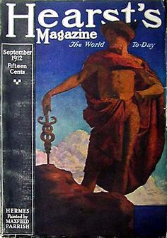 Hearst's Magazine 'Hermes' cover by Maxfield Parrish, September 1912