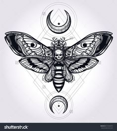 geometric insect tattoo - Google Search