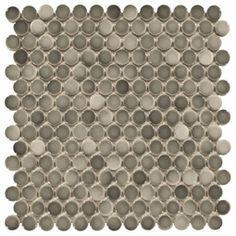 Gray penny round tile light grey gradient dark gray ...