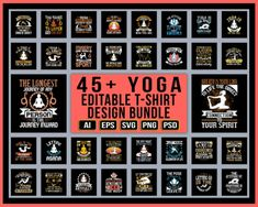 45+ YOGA PRINT READY EDITABLE T-SHIRT DESIGNS! - #yoga #fitness #meditation #yogapractice #love #yogainspiration #yogalife #yogaeverydamnday #yogi #mindfulness #yogateacher #yogalove #pilates #yogaeveryday #namaste #workout #motivation #gym #health #wellness #yogagirl #yogaeverywhere #nature #healthylifestyle #yogachallenge #peace #healing #fitnessmotivation #yogapose #bhfyp #yogaposes #life #selflove #fit #selfcare #spirituality #asana #inspiration #instagood #yogajourney #lifestyle… Yoga Pants Outfit, Yoga Outfits, Fashion Outfits, Yoga Clothing Brands, Unique T Shirt Design, Yoga Photography, Yoga Poses For Beginners, Yoga Quotes, Yoga Fashion