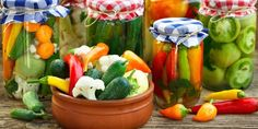 Pickles, Watermelon, Stuffed Peppers, Canning, Fruit, Vegetables, Recipes, Food, Fitness