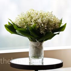bouquet of lilies of the valley.