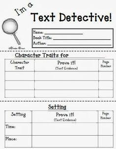 Fern Smith's Classroom Ideas!: Fern's Freebie Friday ~ I'm a Text Detective Reading Response Mini-Booklet