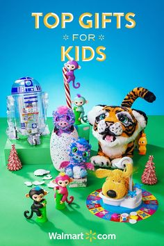 Give your little ones a holiday season to remember with these fun and thoughtful gift ideas from Walmart. Discover everything from this year's must-have toys to the best board games-all at a price you'll love. Shop today.   Top Gifts for Kids include: WowWee Fingerlings, Hatchimals Surprise, LittleBits Star Wars Droid Inventor Kit, FurReal Friends Tiger and the Soggy Doggy Board Game.