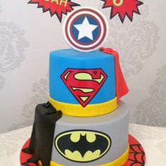 gteau super hros superheroes cake superman spiderman batman captail america sweet design brussels