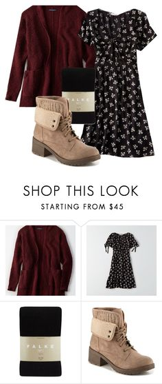"""""""Untitled #693"""" by karinasoto39 on Polyvore featuring American Eagle Outfitters and Falke"""