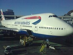 Boeing 747 from British Airways @ Heathrow Airport for our flight to Washington DC in 2009