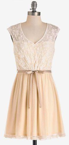 White Haute Cocoa Dress in Vanilla