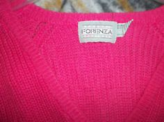1980's Forenza sweater- wore them backwards so the v was down the back- with a tank top underneath.
