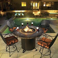 What man doesn't enjoy an Belina Fire Pit? via #FrontGate Magazine #FathersDay