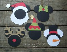 """Disney Scrapbook Page Embellishments """"A Disney Christmas"""" Character Icons"""