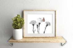 Butterfly watercolour print CB12616 5 by 7 size by LouiseDeMasi