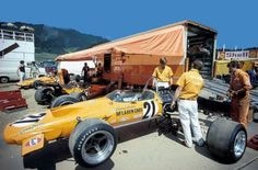 McLaren Team Garage Austrian Grand Prix 1970