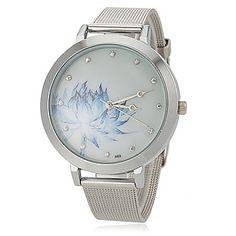 Women's+Flower+Pattern+Steel+Band+Quartz+Wrist+Watch+–+USD+$+5.99