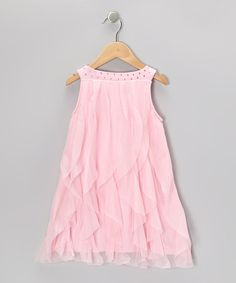 Take a look at this Pink Cascade Dress - Toddler & Girls by Paulinie on #zulily today!