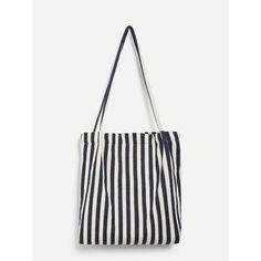 Perfect for the beach! Stylish Outfits, Fall Outfits, Fashion Outfits, Fashion Trends, Classy Trends, Summer Pool Party, Striped Canvas, Cheap Handbags, Canvas Tote Bags