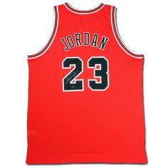 Michael Jordan Autographed Signed Chicago Bulls Away/Red Jersey | Santana's Market