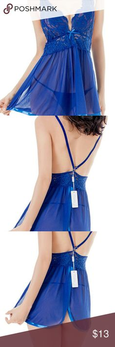 Sexy lingerie Women's Sexy Lingerie evening romance lace and mesh babydoll set. Size medium Intimates & Sleepwear Chemises & Slips