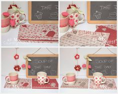 My country nest: Mug rugs per dolci momenti di relax