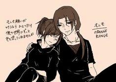 anime - naruto shippuden - itachi and izumi - itaizu - couple - love - fanart