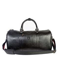 JL Collections Leather 19 Inch Square Duffel Travel Bag Black *** You can find more details by visiting the image link. (This is an affiliate link and I receive a commission for the sales)