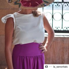Otra invitada de este fin de semana @la_senoritals con uno de nuestros tops! Preciosa #invitadas2016 #clientas10 #isabelarangofashiondesign #isabelarangoclothes #isabelarango #namukaandco @_namukaandco_ #jovenesdiseñadores #slowfashion #fashionrevolution