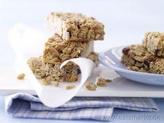 Erdnuss-Riegel mit Rosinen - smarter - Kalorien: 100 Kcal | Zeit: 20 min.