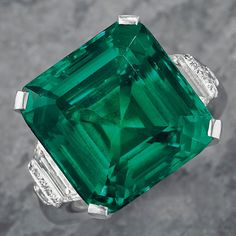 The famous Rockefeller Emerald—an approximately 18.04 ct., octagonal, step-cut Colombian emerald acquired by John D. Rockefeller Jr. in 1930—is set to be the superstar lot at Christie's Magnificent Jewels New York auction June 20. Sold