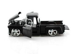 1955 Chevy Stepside 1/24 Black - Jada Diecast