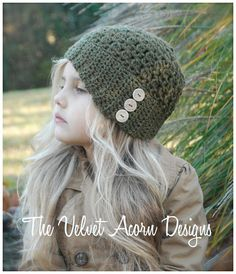 Crochet PATTERNThe Northlynn Cloche' Toddler by Thevelvetacorn, $5.50