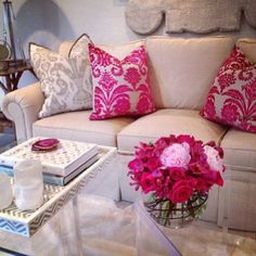 love the tray, the coasters, the pretty pinks