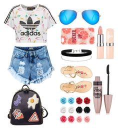 """""""I'm just that awesome!"""" by allstarstyle ❤ liked on Polyvore featuring adidas Originals, Ray-Ban, Kate Spade, Miss Selfridge, Lilly Pulitzer, WithChic and Maybelline"""