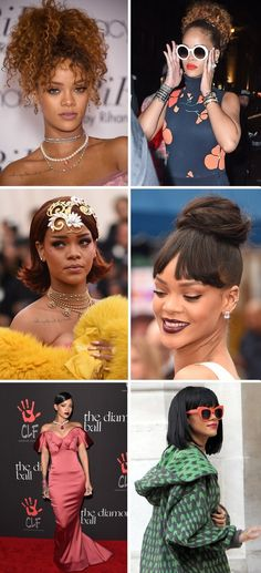 Rihanna fashion photos - Rihanna's best hairstyles, red carpet dresses, and street style.