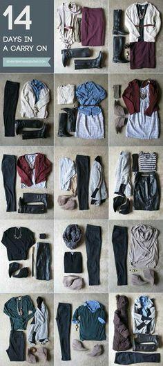 Travel outfits - dark neutrals.