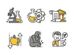 Educational icons by Samir Taiar - Dribbble