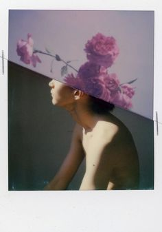 A beautiful Instax Collage. Help me credit this Image. #flower #boy #instaxmagic #analog #romantic