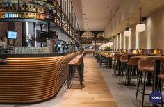 HEKKER  Interieurbouw - Gouds glas - TOOKO – Inspiratie voor een exclusieve werkomgeving Unique Buildings, Beautiful Buildings, Classic French Dishes, Healthiest Seafood, Catering Business, Food Concept, Seafood Restaurant, Design Hotel, Drinking Tea