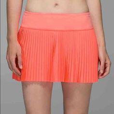 b6841a8dc2 Lululemon Pleat to Street Skirt II NWT grapefruit $35 firm no trades  lululemon athletica Skirts Fashion